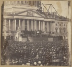 A photograph of Lincoln's first inauguration